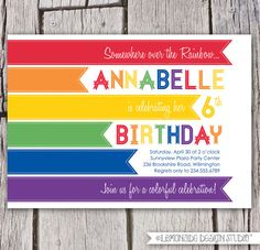 Hey, I found this really awesome Etsy listing at http://www.etsy.com/listing/120975027/rainbow-invitation-modern-rainbow