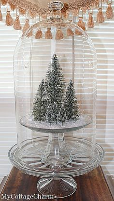 vintage bottle brush trees (not a tutorial). Great idea for DIY trees!!