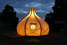 Bamboo built Froute Pod is made for stylish camping : TreeHugger