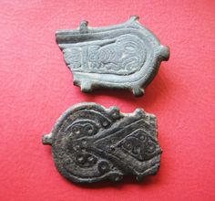 A Group of Two Visigoth Bronze Belt Plates by ClioAncientArt
