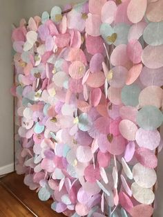 The original paper circle garland: pastels, Papierkreis Garland: Pastels Diy Birthday, Birthday Party Decorations, Baby Shower Decorations, Wedding Decorations, Paper Decorations, Birthday Backdrop, Garland Wedding, Circle Garland, Heart Garland