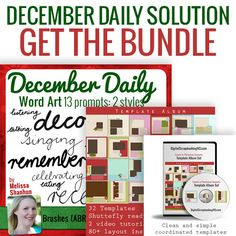 Want to get a head start on scrapbooking an album?  In just a few sessions of scrapbooking, you can complete a beautiful album.  If you want to stop thinking about it and actually get some pages done, you will love this limited time offer.  And to sweeten the deal for the sweet month of December, sh...