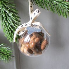Personalised Dog Treat Christmas Bauble