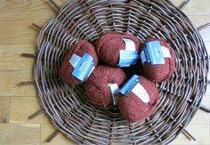 Lovely Lot of 5 Berroco Blackstone Tweed Wool Yarn Rust color NEW