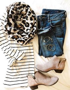 Leopard all day. Perforated booties would be great addition and like the accesso… Leopard all day. Perforated booties would be great addition and like the [. Look Fashion, Fashion Outfits, Womens Fashion, Fashion Trends, Fashion Fall, Fashion Scarves, Fashion Ideas, Latest Fashion, Feminine Fashion