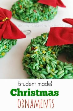 Christmas Wreath Ornaments - Munchkins and Moms