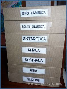 Homeschool in the Hills: Continent Boxes - Intro