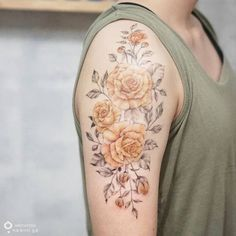 Yellow Roses by Tattooist Silo