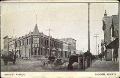 Barnett Ave in Lacombe, 1906 Lacombe, AB