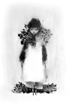 """Illustrator  Artist: Alexandre Day """"Plumes Blanches""""  Part of the """"Silences"""" Series"""