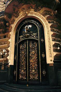 Gorgeous black door
