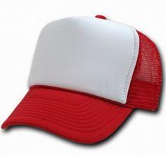 7979116fd81ef Gorra roja y blanca con red. Gorras LisasGorras TruckerRopa De  BaileCardenalesGorras De Camionero