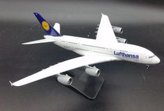 88.00$  Watch now - http://aliaf5.worldwells.pw/go.php?t=32629689883 - PH 1: 400 Lufthansa German Airlines Airbus A380 Alloy aircraft model D-AIMN
