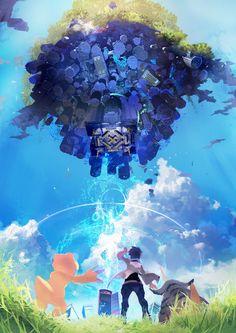 「デジモンワールド -next 0rder-」の男性主人公は高校3年生の少年。アグモン&ガブモンと共に空の浮島を目指す? - 4Gamer.net