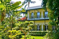 Ernest Hemingway's home in Key West, Florida. Go to www.YourTravelVideos.com or just click on photo for home videos and much more on sites like this.