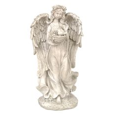 Gray Angel Garden Statue | Kirklands