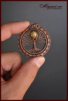 Copper Forest – Originalschmuck – Wire Wrap & # s; s ph … - Jewelry Crafts Wire Pendant, Wire Wrapped Pendant, Wire Wrapped Jewelry, Diy Schmuck, Schmuck Design, Bijoux Fil Aluminium, Wire Jewelry Designs, Tree Of Life Jewelry, Wire Jewelry Making