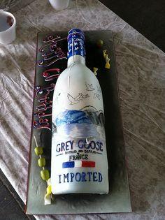 Grey goose bottle cake!❤❤ Grey Goose Vodka, Bottle Cake, Gatsby Theme, Eat Cake, Vodka Bottle, Cakes, 50th, Cake Ideas, Birthday