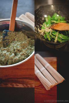 Coriander & Nori 'Pesto' Soba w/ Wok Seared Greens