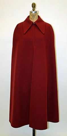 Cape  House of Dior   Designer: Marc Bohan   Date: fall/winter 1970–71   Culture: French