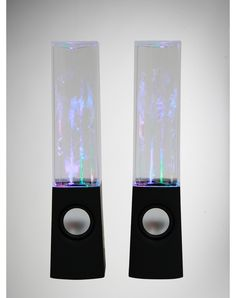 Watershow Speakers. Plug up your iPod and different light colored waters sprays up at the beat of the music! Need now!
