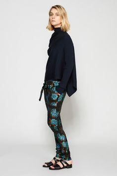 Marques'Almeida | Brocade Slim Trouser | MYCHAMELEON.COM.AU