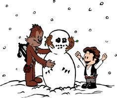 One snowy day Calvin Solo and Chewie Hobbes had a great plan to build a cool snowman. What they created was a Wampa, the deadliest snow beast in all of Hoth. At least that was what they pretended it was.  Celebrate their triumph while sporting this stylish white tee. You could even build your won Wampa out of snow while wearing a t-shirt or watch Empire Strikes Back for the 400th time.  Star Wars watching enhanced!