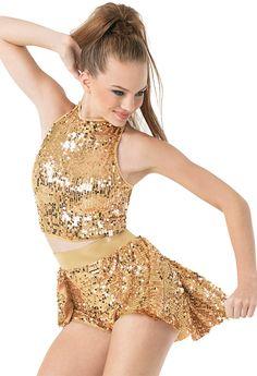 Ultra Sparkle Back Panel Skirt
