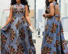 Queue de poisson africain Print Dress par MyAnkaraLove sur Etsy