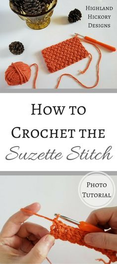 This is a free photo tutorial for how to crochet the Suzette Stitch! It's super easy and creates a solid fabric that is wonderful for most types of projects
