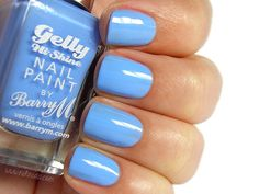 Barry M Gelly Hi-Shine Nail Paint in Blueberry