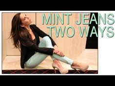 My first Fashion video! Mint Jeans from TopShop styled for day & night!