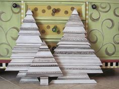 Architectural Recycled Molding Christmas Trees