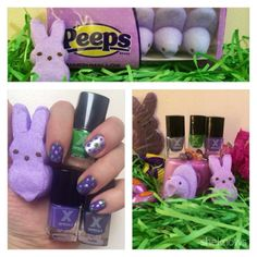 Mani-Monday: A purple polka-dot Easter egg marshmallow Peeps manicure