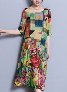Shop Floryday for affordable Dresses. Floryday offers latest ladies' Dresses collections to fit every occasion. Shift Dresses, Women's Dresses, Dresses Online, Half Sleeve Dresses, Half Sleeves, Manga Floral, Vestido Casual, Affordable Dresses, Party Dresses For Women
