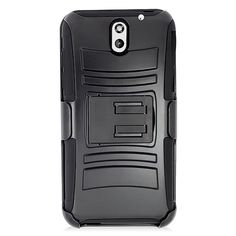 HTC Desire 610 Skin Hybrid Case with Holster #PH-PRHTC610SPSTHL