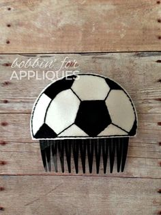 Soccer Ball Hair Comb Topper