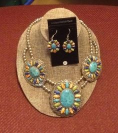 Gorgeous, traditional Navajo-crafted sterling silver jewelry set featuring genuine stones! #Navajo #NativeAmerican #JewelrySet #NativeAmericanJewelry #SterlingSilver #turquoise #coral #gaspeite #NativeAmericanArtists #SupportNativeAmerican #AmericanIndian