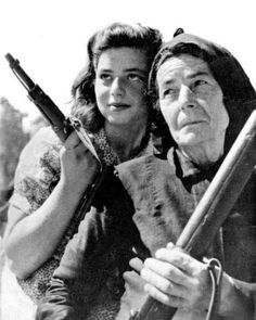 Female Greek partisans on the island of Crete during the German occupation (Summer, 1943). (Do you know what kind of guns they holding?) #worldwar2 #wwii #ww2 #war #secondworldwar #worldwarii #worldwartwo #history #wartime #warhistory #warpic #worldwar2history #warphotography #historical #womenshistory #nurse #military #submachinegun #gun #gunlife #eam #elas #resistance #greece #greek #crete #ladiesinwars