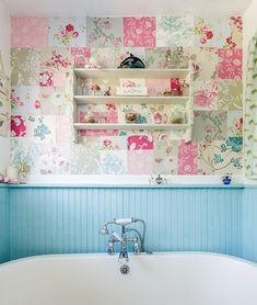 Baño Vintage Muy Colorido
