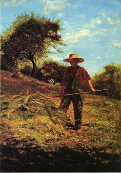 """""""Haymaking""""  Winslow Homer.  Art = life: difficult, hard work, exhausting."""