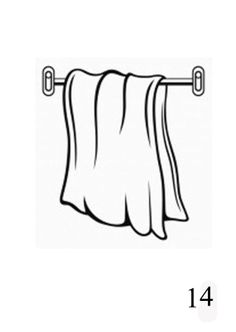 hung towel