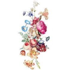 Temporary Tattoo Vintage Floral Pick your size