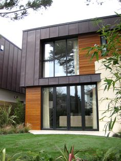 Copper cladding with timber