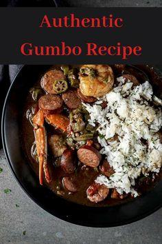 New Orleans Gumbo - My list of simple and healthy recipes Clam Recipes, Haitian Food Recipes, Pasta Dinner Recipes, Cajun Recipes, Fish Recipes, Lunch Recipes, Seafood Recipes, Donut Recipes, Gumbo Recipes
