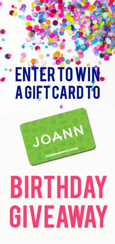 Enter to win a gift card to JoAnn to celebrate a birthday for Sunni, the owner of Sewing Blue!