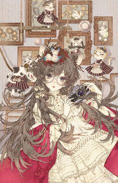 Anime Pic: A mare's nest Manga Girl, Anime Art Girl, Anime Girls, Art And Illustration, Pretty Art, Cute Art, Kawaii Anime, Character Art, Character Design