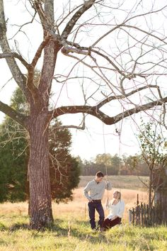 Georgia farm engagement | Allison + Chris