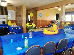DIY party décor, rubber ducky party, baby shower