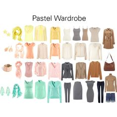 Pastel Wardrobe by katestevens on Polyvore featuring mode, Warehouse, H&M, Vanessa Bruno, Uniqlo, Miu Miu, Yves Saint Laurent, L.K.Bennett, Dorothy Perkins and Mother